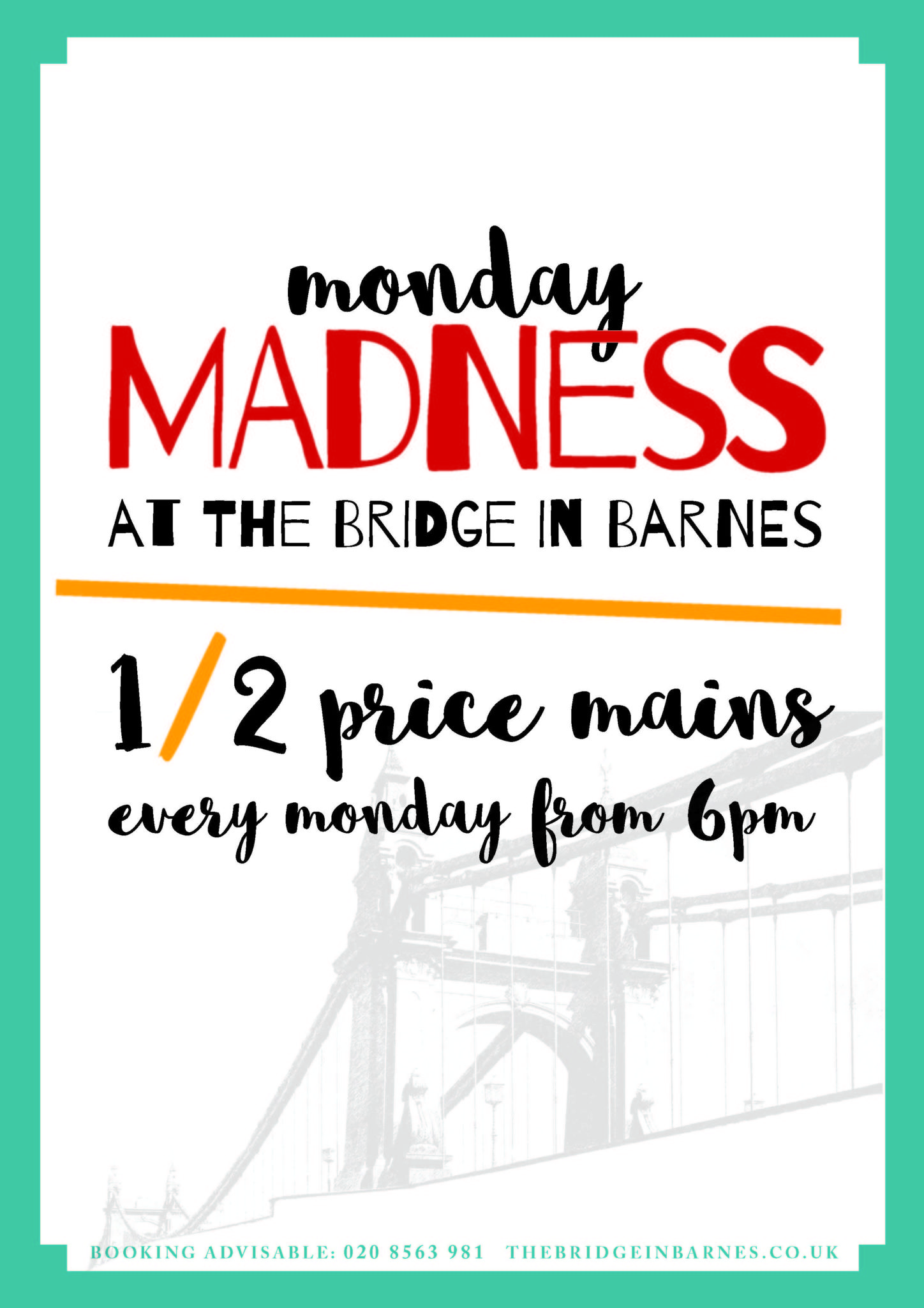 Monday Madness Poster